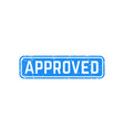 approved stamp on white vector image