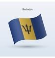 Barbados flag waving form vector image vector image