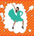 beautiful young woman dancing flat design in vector image