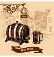 Beer bar menu sketch vector image vector image