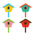 bird house home birdhouse nest isolat vector image