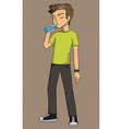 Boy drinking eps example exercise explanation vector image vector image