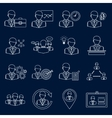 Business and management icons outline vector image vector image