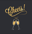 champagne glass banner cheers party celebration vector image vector image