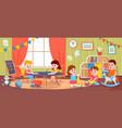 children playing in room kids activity vector image vector image