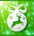 christmas deer background vector image vector image