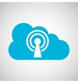 cloud connection internet concept graphic vector image
