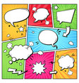 comic books dialog bubbles cartoon book superhero vector image