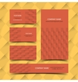 Construction business card set vector image