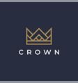 crown logo icon vector image vector image