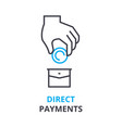 direct payments concept outline icon linear vector image