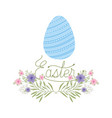 easter label isolated icon vector image