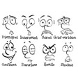 eight facial expressions of human vector image vector image