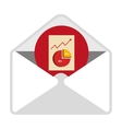 Email with statistics content icon vector image