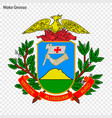 emblem of mato grosso state of brazil vector image vector image