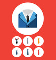 flat icon tie set of style suit clothing and vector image vector image