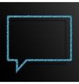 Frame Blue Sequins Speech Bubble Sparkle Stars vector image vector image