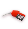 fuel dispenser in simple 3d style vector image vector image