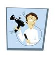 Funny Coiffeur vector image