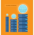 Global Storage Web Banner in Flat Style vector image vector image