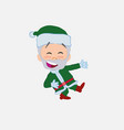 green santa claus laughing while teaching vector image vector image