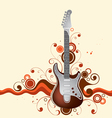 guitar on a background vector image