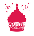 Happy birthday Cupcake Card vector image vector image