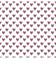 hearts seamless pattern cute doodle hearts summer vector image vector image