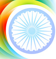 indian flag wave vector image