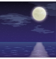 Landscape night sea and sky vector image