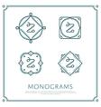 Letter Z Monogram vector image vector image