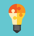 Light bulb of puzzles vector image vector image