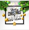 merry christmas on white background vector image vector image