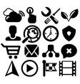 Modern black web icon set vector image vector image
