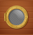 porthole realistic composition vector image vector image