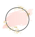 rose and pink background stroke frame gold vector image vector image