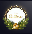 round christmas design with decorative light bulb vector image
