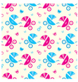 seamless baby carriages pattern vector image vector image