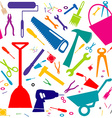 Seamless background with DIY tools or home repair vector image