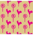 Seamless pattern cocks lollipops vector image vector image