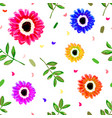 seamless repeating pattern with hand painted vector image