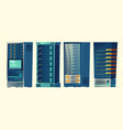 server racks database room data center vector image