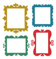 set hand drawn frames vector image vector image