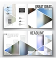 Set of annual report business templates for vector image vector image