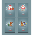 Set of cute Christmas character vector image vector image