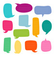 set of empty dialogs boxes speech bubbles vector image