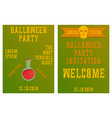 set of halloween concepts pumpkin and spider web vector image