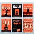 Set of posters for Halloween sale vector image