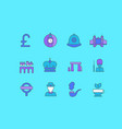 set simple line icons united kingdom vector image