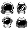 set spaceman helmets design elements for logo vector image